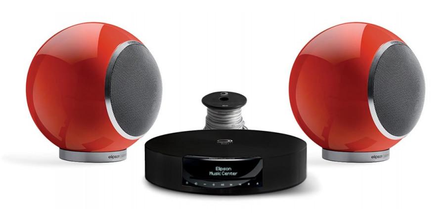 1 Elipson pack music center bt hd + chromecast + planet l 2.0 rouge + câble hp 10m - Compositions