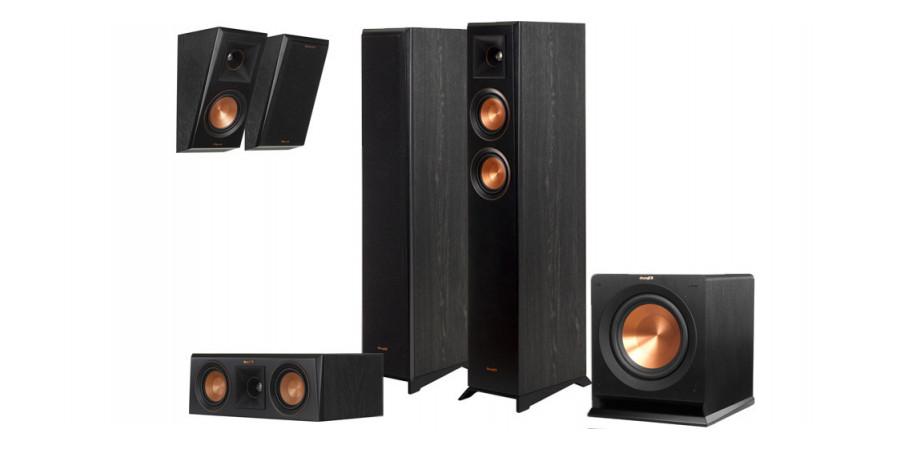 1 Pack Klipsch reference premiere rp-4000F hcm 5.1 ebony vinyl - Compositions home cinéma - iacono.fr