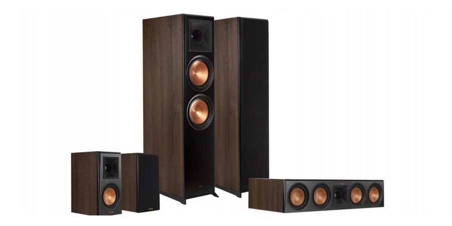 1 Pack Klipsch RP-8000F HCM 5.0 noyer - Compositions home cinéma - iacono.fr