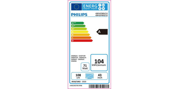 5 Philips 43pus7805/12