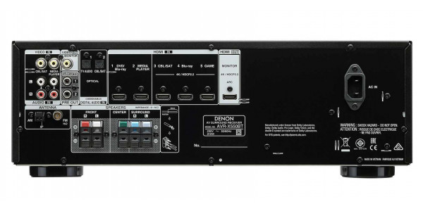 3 Denon AVR-X550BT Noir - Amplificateurs home cinéma - iacono.fr