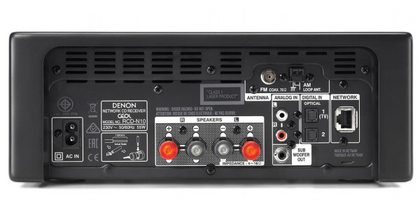 2 Denon Ceol rcd-n10 noir - Chaînes compactes - iacono.fr