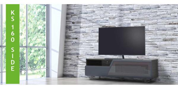 2 Kairos side ks160 gris foncé - Meubles TV / Vidéo - iacono.fr