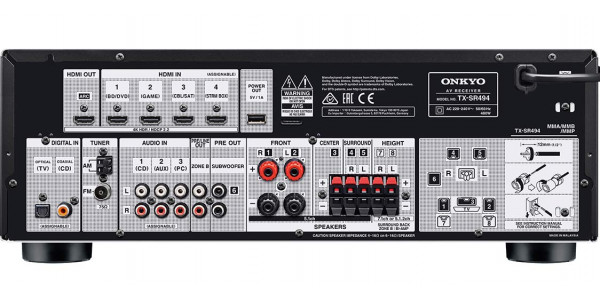 3 Onkyo tx-sr494 noir - Amplificateurs home cinéma - iacono.fr