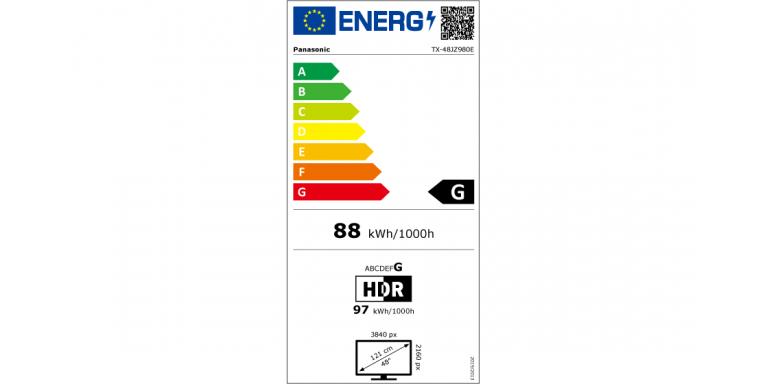 consommation énergétique Panasonic tx-48jz980e