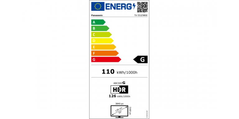 consommation énergétique Panasonic tx-55jz980e