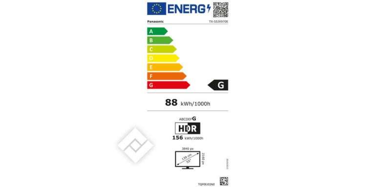 consommation énergétique Panasonic tx-55jx970e