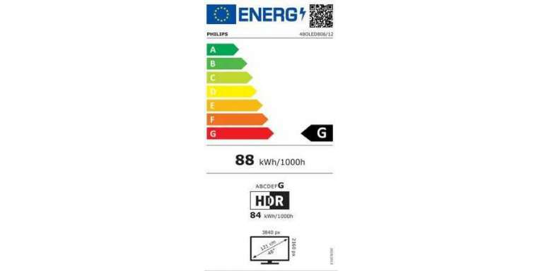 consommation énergétique Philips 48OLED806/12