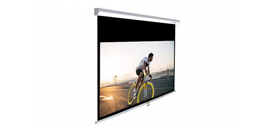 1 Lumene capitol hd 240 c écran manuel - Écrans de projection - iacono.fr
