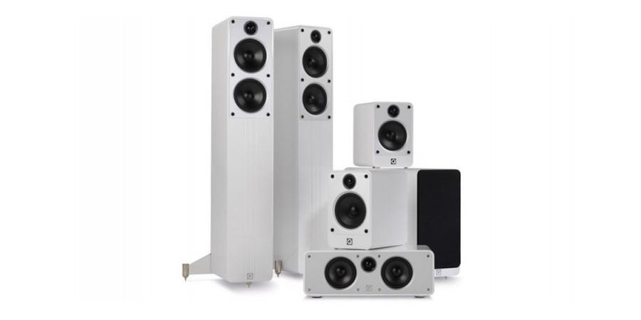 1 Q Acoustics concept cinéma pack blanc - Packs home cinéma - iacono.fr