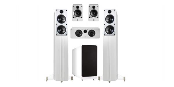 2 Q Acoustics concept cinéma pack blanc - Packs home cinéma - iacono.fr