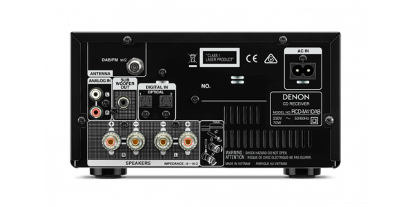 3 Denon D-M41 DAB Silver - Chaînes compactes - iacono.fr