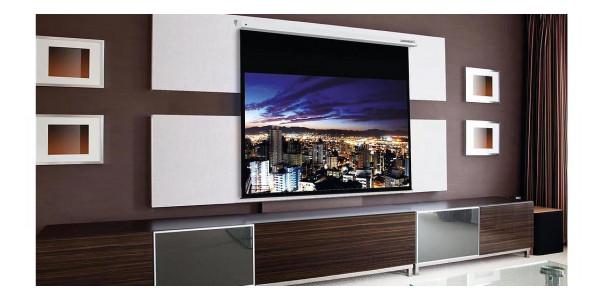 2 Lumene embassy hd 200 c écran motorisé - Écrans de projection - iacono.fr