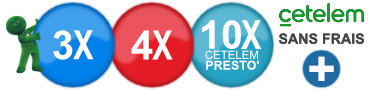 Pay in 3x, 4x or 10 times without fees with our partner Cetelem